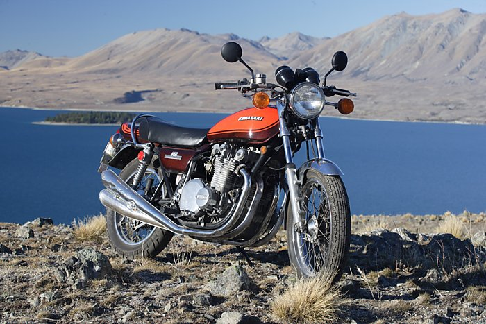1976 Kawasaki KZ 900 restored with look of Jaffa 73 Z1