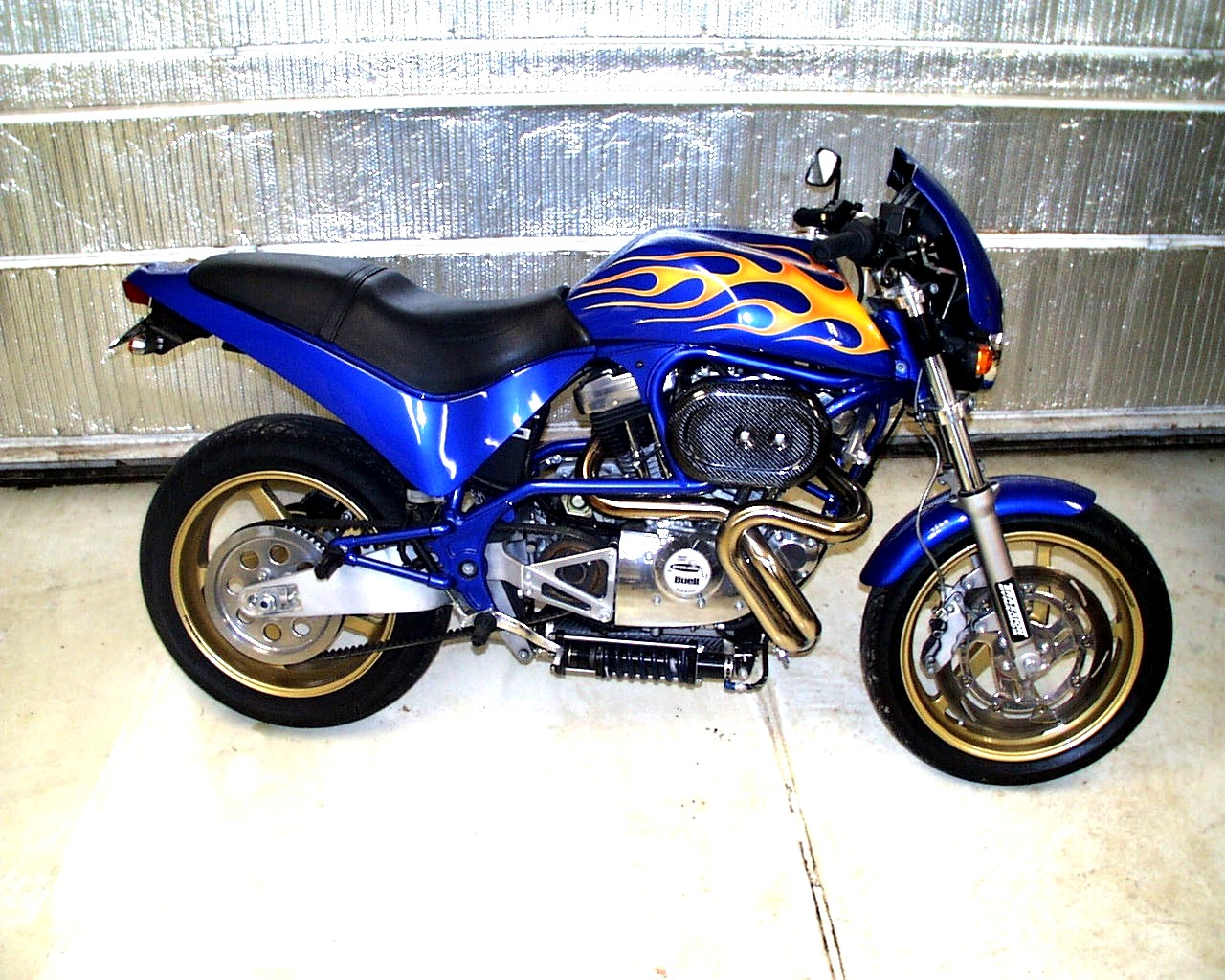 buell sport bike sportbike candy flame job paint - Motorcycle Frame Paint